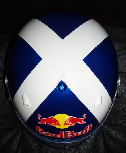 David Coulthard 2005 Red Bull helmet Arai GP 5 K